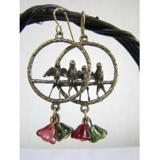 Lovebirds in the Garden Earrings