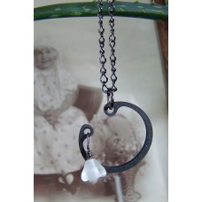 Ice flower in moon garden necklace