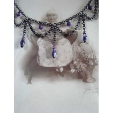 Gothic Loop Drop with Tanzanite glass beads