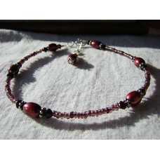 Rich Red Pearl beaded Anklet